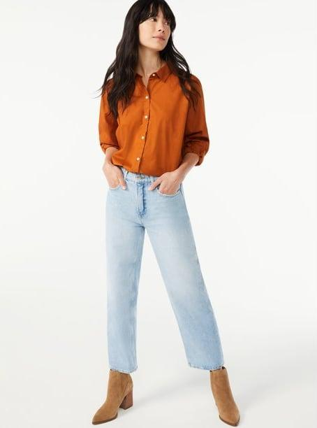 <p>You're going to want to buy this <span>Free Assembly Women's Button-Front Blouse with Blouson Sleeves</span> ($24) in every color.</p>