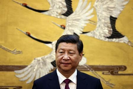 China's President Xi Jinping attends a signing ceremony with Jordan's King Abdullah at the Great Hall of People in Beijing