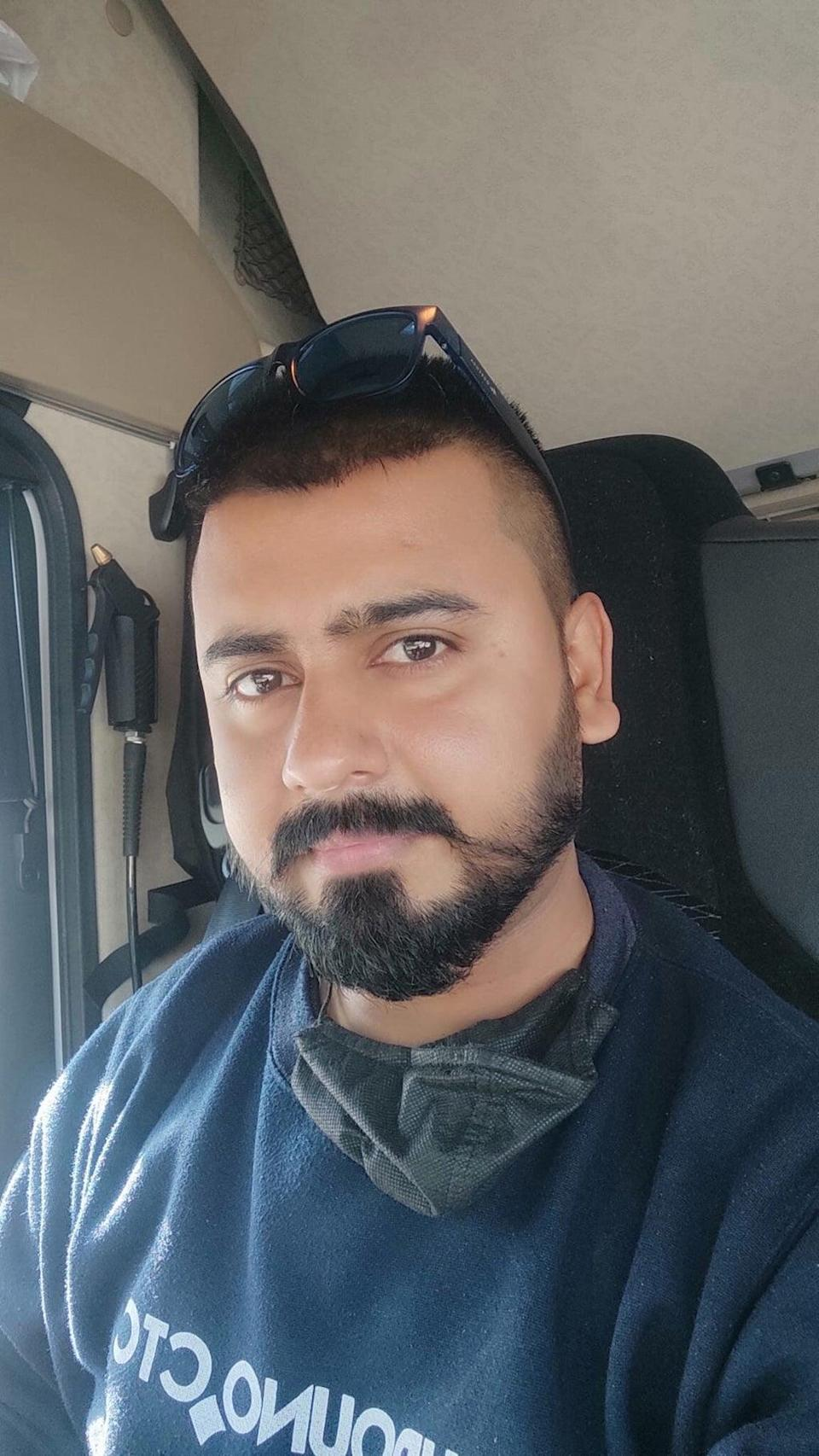 Imran Mustafa, 32, says he believes drivers won't move to the UK for just 12 weeks after the Government announced a scheme that will see 5,000 HGV drivers and 5,500 poultry workers brought in on three-month contracts. (PA) (PA)