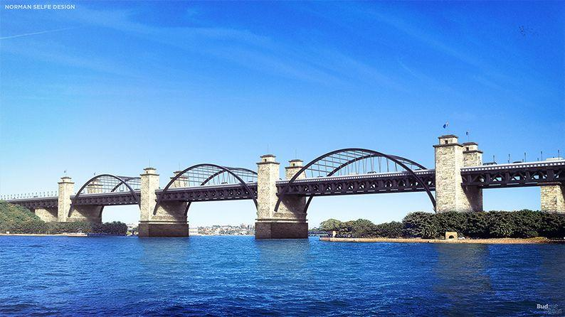 This is what the Sydney Harbour Bridge could've looked like. Source: Budget Direct