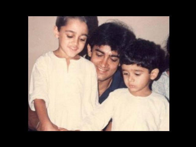 18. The kid to the left of Aamir Khan is our chocolate boy of Bollywood, Imran Khan – cutting his birthday cake with his mamu. Born on 13thJanuary, 1983 in Wisconsin, this Bollywood celebrity has played the role of a young Aamir Khan in 'Qayamat Se Qayamat Tak' and 'Jo Jeeta Wahi Sikander'.