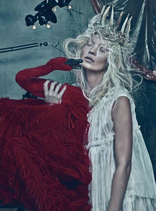 """Be Nice—or Naughty! """"Good Kate, Bad Kate"""" photographed by Steven Klein, styled by Edward Enninful; W Magazine March 2012."""