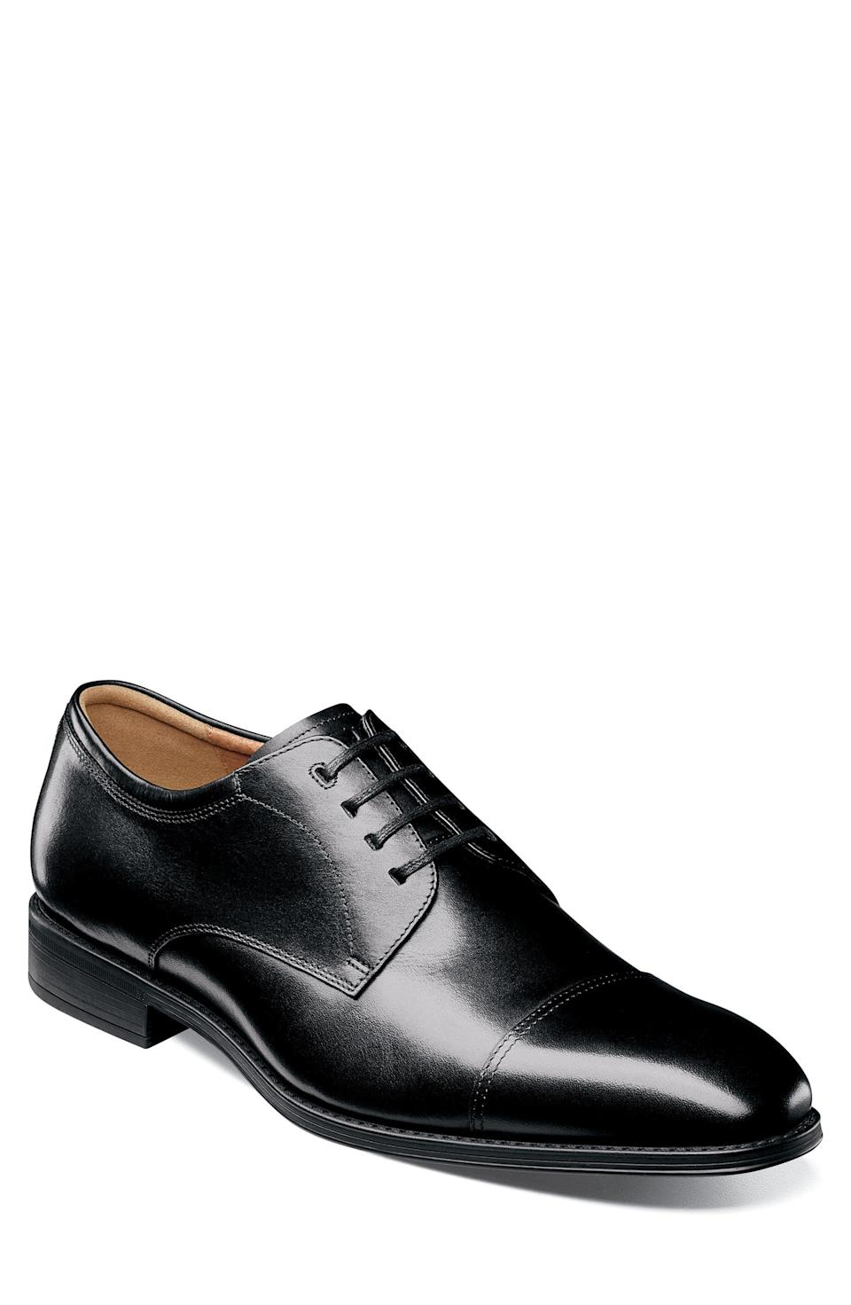 """<p><strong>FLORSHEIM</strong></p><p>nordstrom.com</p><p><a href=""""https://go.redirectingat.com?id=74968X1596630&url=https%3A%2F%2Fwww.nordstrom.com%2Fs%2Fflorsheim-ariano-cap-toe-oxford-men%2F6146250&sref=https%3A%2F%2Fwww.esquire.com%2Fstyle%2Fmens-fashion%2Fg37002225%2Fnordstrom-anniversary-sale-mens-fashion-deals-2021%2F"""" rel=""""nofollow noopener"""" target=""""_blank"""" data-ylk=""""slk:Shop Now"""" class=""""link rapid-noclick-resp"""">Shop Now</a></p><p><strong>Sale: </strong><strong>$74.90</strong></p><p><strong>After Sale: $115.00</strong></p><p>Because fancy happenings are on the horizon. </p>"""