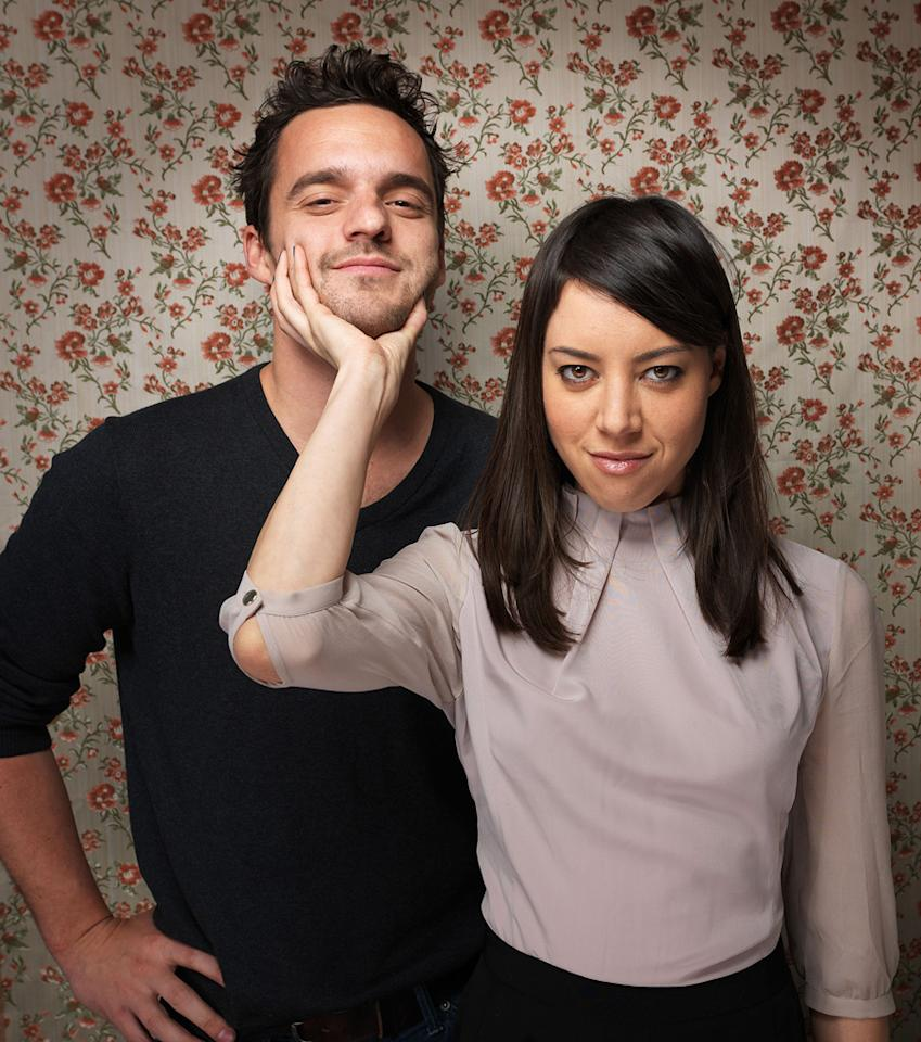 "<strong> </strong>Jake Johnson, left, and Aubrey Plaza from the film ""Safety Not  Guaranteed,"" pose for a portrait during the 2012 Sundance Film Festival  on Monday, Jan. 23, 2012, in Park City, Utah."