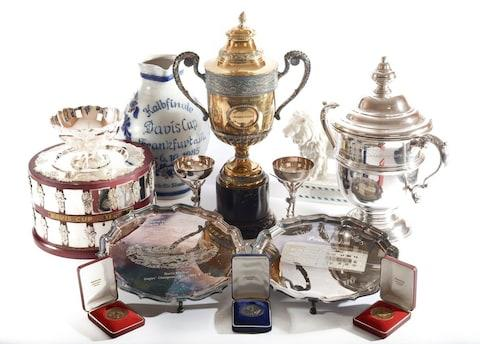 Boris Becker's Wimbledon cups and other memorabilia on sale - Credit: SHENER HATHAWAY