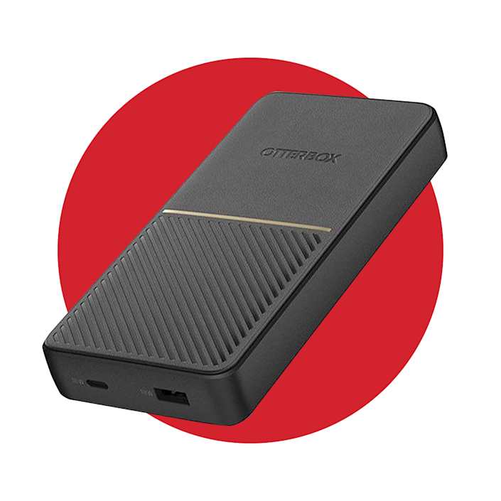 """<p>otterbox.com</p><p><strong>$54.95</strong></p><p><a href=""""https://go.redirectingat.com?id=74968X1596630&url=https%3A%2F%2Fwww.otterbox.com%2Fen-us%2Fn-a%2Ffast-charge-power-bank%2F78-52568.html%23start%3D1&sref=https%3A%2F%2Fwww.menshealth.com%2Ftechnology-gear%2Fg36954813%2Fmens-health-outdoor-awards-2021%2F"""" rel=""""nofollow noopener"""" target=""""_blank"""" data-ylk=""""slk:BUY IT HERE"""" class=""""link rapid-noclick-resp"""">BUY IT HERE</a></p><p>When you need GPS (or just a quick update on the world you left behind for your trip), there's nothing worse than running out of juice. This portable charging pack, which has a USB-A and USB-C port, is sure to boost your devices—and fast. And with the sleek and durable design, you can take this wherever you go.</p>"""