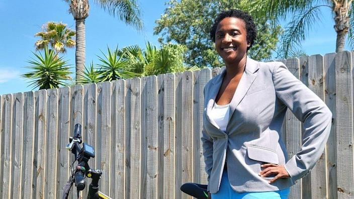 Terika Haynes, the chief executive and founder of DT Scooters
