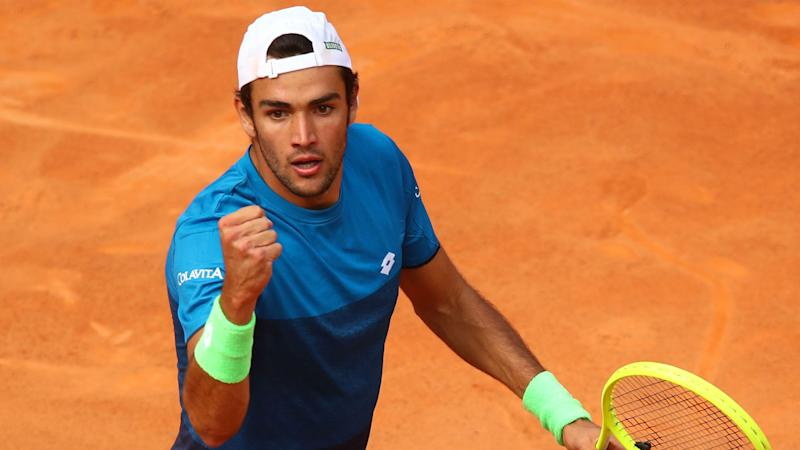 Berrettini ousts Zverev as Kyrgios runs through his repertoire in Rome