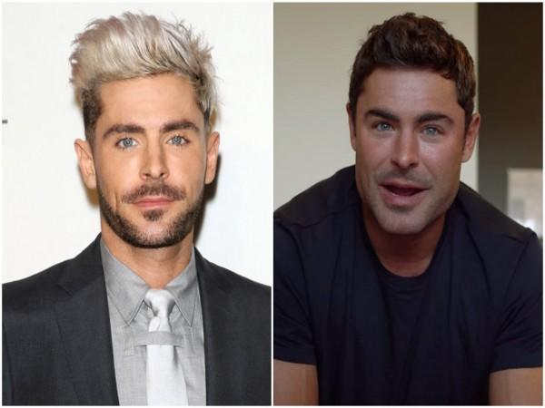 Zac Efron in 2019 (L) and 2021 (R). (Image courtesy: Facebook)