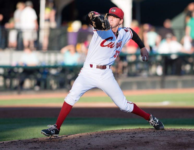 The Altoona Curve will have on-field rally caps this season. (Getty Images/Justin Berl)