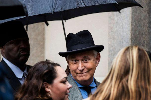 PHOTO: Roger Stone, a longtime Republican provocateur and former confidant of President Donald Trump, waits in line at the federal court in Washington, D.C., Nov. 12, 2019. (Manuel Balce Ceneta/AP)