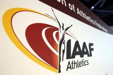 The logo of the International Association of Athletics Federations (IAAF) is seen in Monaco, March 11, 2016. REUTERS/Eric Gaillard Picture Supplied by Action Images