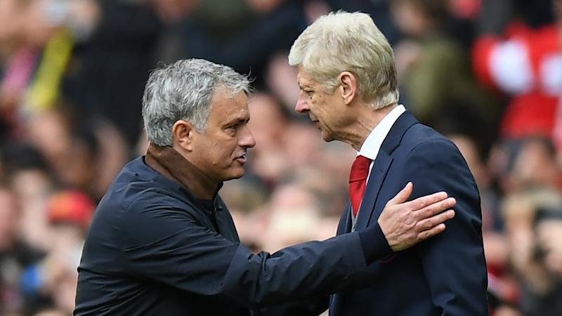 ec49b323aa Friends now? Mourinho salutes Wenger as 'one of the best managers in  football history'