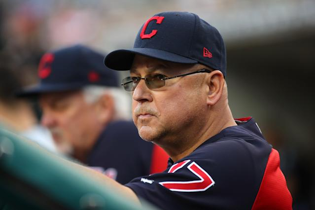 "A simple miscommunication in the dugout caused <a class=""link rapid-noclick-resp"" href=""/mlb/teams/cle"" data-ylk=""slk:Indians"">Indians</a> manager Terry Francona to send in the wrong pitcher in the ninth inning on Tuesday night against the Reds. (Getty Images)"