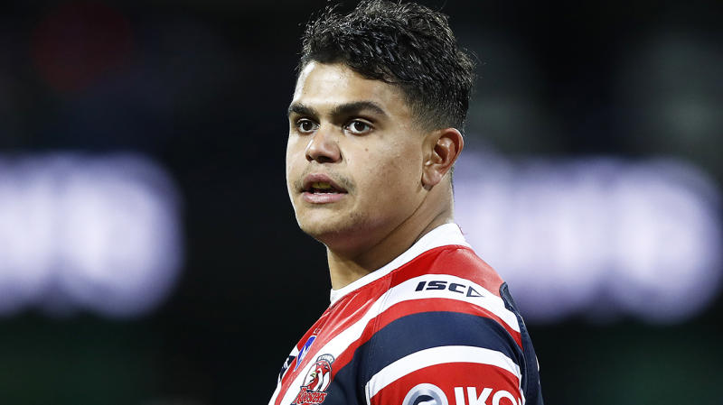Sydney Roosters' Latrell Mitchell, pictured, is in the midst of extended contract negotiations.