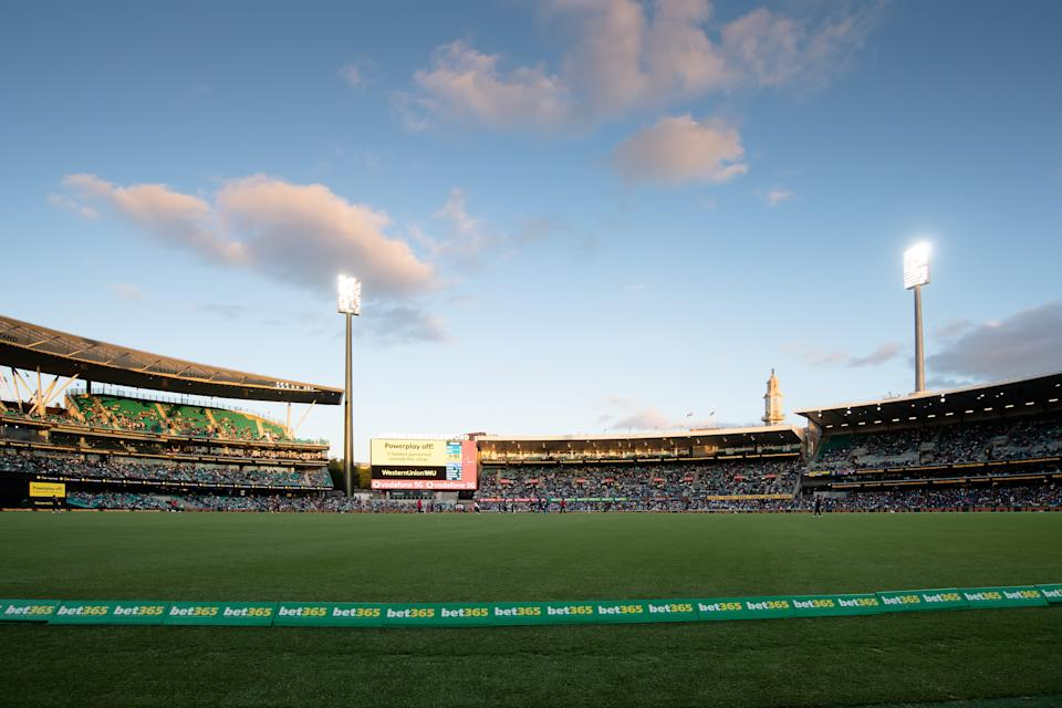 A general view during the Dettol T20 Series cricket match between Australia and India at the Sydney Cricket Ground on December 08, 2020 in Sydney, Australia.