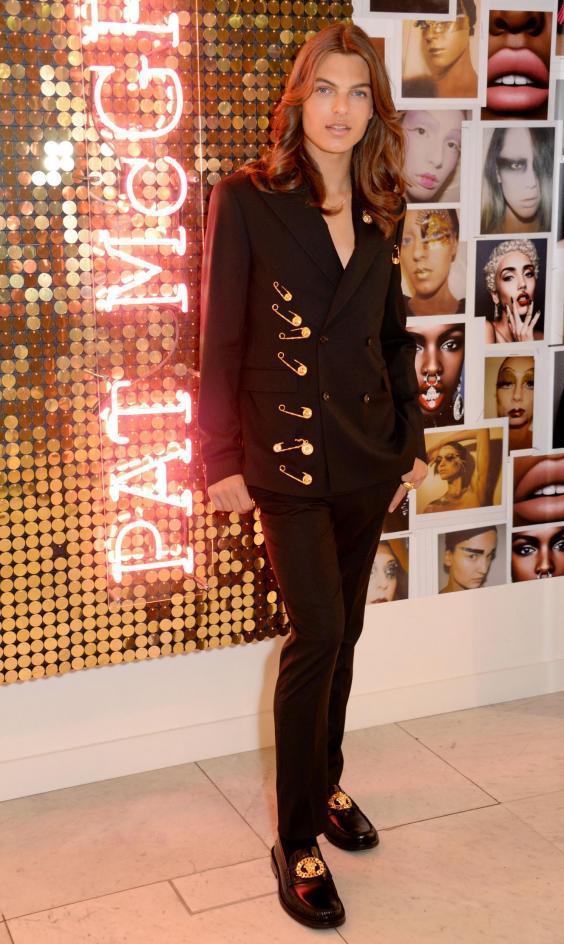 Pat McGrath Muse Damian Hurley launches the Pat McGrath Labs new product range, 'Sublime Perfection: The System' at Selfridges (Rex)