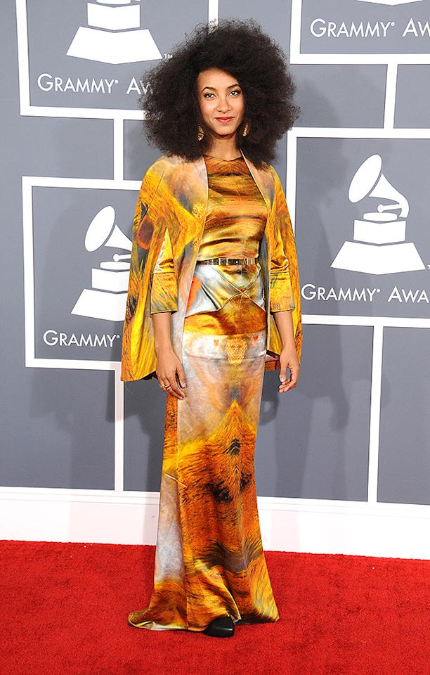 LOS ANGELES, CA - FEBRUARY 10:  Musician Esperanza Spalding attends the 55th Annual GRAMMY Awards at STAPLES Center on February 10, 2013 in Los Angeles, California.  (Photo by Steve Granitz/WireImage)