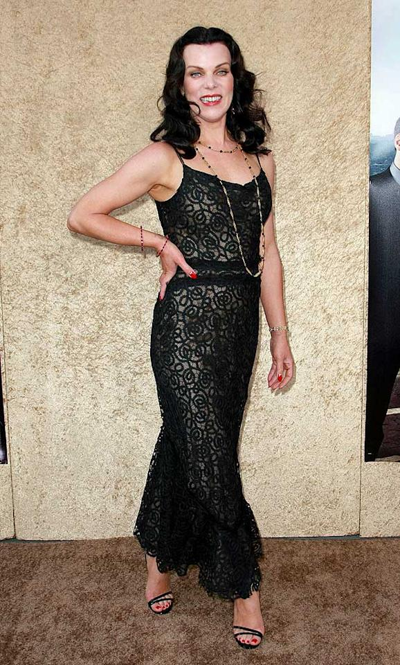"Debi Mazar, who plays ballsy publicist Shauna, looked fierce in her black lace gown. Tonya Wise/London Entertainment/<a href=""http://www.splashnewsonline.com"" target=""new"">Splash News</a> - June 16, 2010"