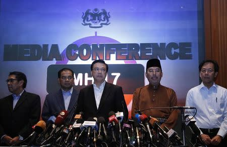 Malaysian Transport Minister Liow Tiong Lai attends a news conference at a hotel near Kuala Lumpur International Airport in Sepang