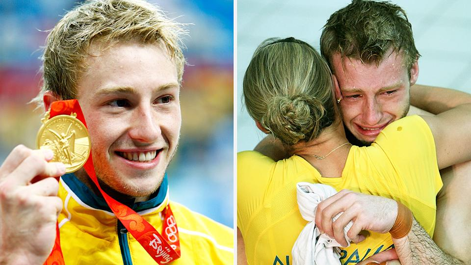 Matthew Mitcham, the first openly gay man to win Olympic gold, has opened up about the toll of hiding his sexuality during his younger years. Pictures: Getty Images