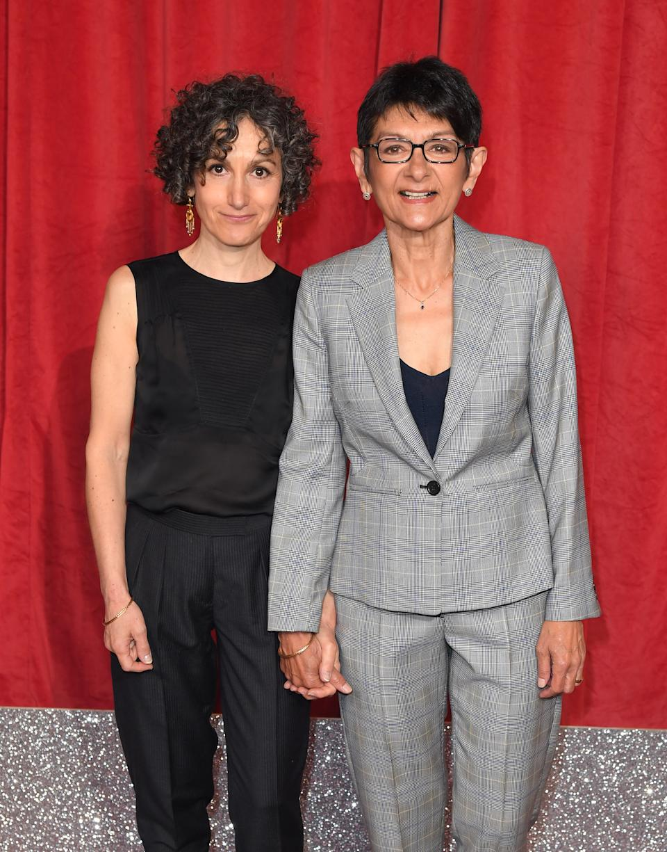 MANCHESTER, ENGLAND - JUNE 01: Shelley King and Trilby James attend the British Soap Awards at The Lowry Theatre on June 01, 2019 in Manchester, England. (Photo by Karwai Tang/WireImage)