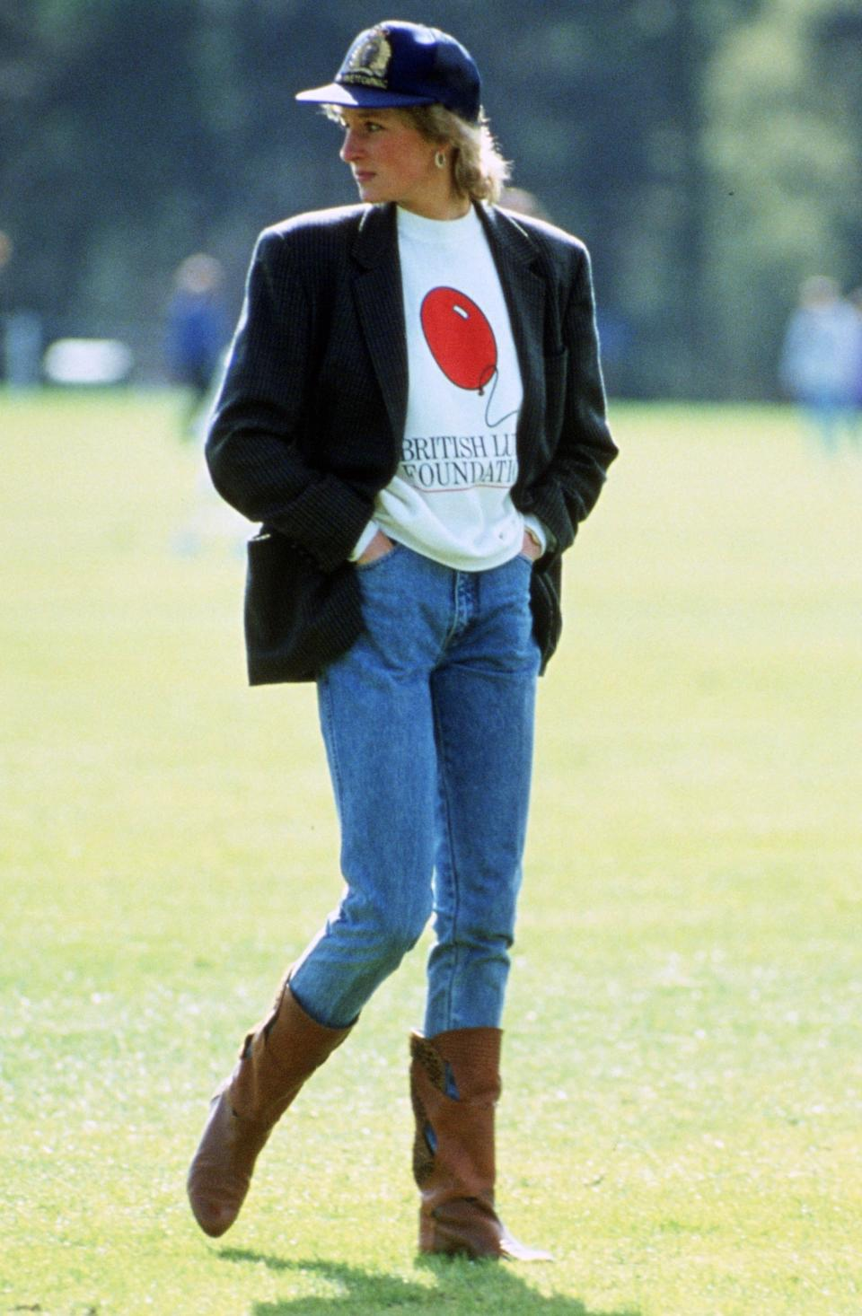 Princess Diana at the Guards Polo Club in 1988 [Photo: Getty]