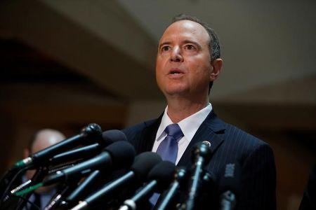 House Select Committee on Intelligence Ranking Member Rep. Adam Schiff (D-CA) speaks with the media about the ongoing Russia investigation on Capitol Hill