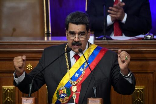 Venezuelan President Nicolas Maduro (pictured January 14, 2020) said he was ready to hold talks with the US to negotiate an end to crippling sanctions imposed by President Donald Trump