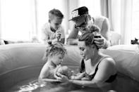 """<p><a href=""""https://people.com/tag/hilary-duff/"""" rel=""""nofollow noopener"""" target=""""_blank"""" data-ylk=""""slk:Hilary Duff"""" class=""""link rapid-noclick-resp"""">Hilary Duff</a> is another musical mom on the list and she's feeling good about it!</p> <p>The """"Come Clean"""" singer and her husband, singer Matthew Koma, <a href=""""https://people.com/parents/hilary-duff-matthew-koma-welcome-second-child/"""" rel=""""nofollow noopener"""" target=""""_blank"""" data-ylk=""""slk:welcomed daughter Mae James"""" class=""""link rapid-noclick-resp"""">welcomed daughter Mae James</a> in March, who joins their other <a href=""""https://people.com/parents/hilary-duff-welcomes-daughter-matthew-koma/"""" rel=""""nofollow noopener"""" target=""""_blank"""" data-ylk=""""slk:daughter Banks Violet"""" class=""""link rapid-noclick-resp"""">daughter Banks Violet</a>, 2, and Duff's <a href=""""https://people.com/parents/hilary-duff-welcomes-son-luca-cruz/"""" rel=""""nofollow noopener"""" target=""""_blank"""" data-ylk=""""slk:son Luca Cruz"""" class=""""link rapid-noclick-resp"""">son Luca Cruz</a>, 9, from her first marriage.</p> <p>""""I have help, but babies just want their mom. Even Luca is still like, 'Mom, Mom, Mom.' Mom cooks the thing the right way, and Mom packs the bag the right way. It's crazy,"""" Duff<a href=""""https://people.com/parents/hilary-duff-talks-life-as-mom-of-3-after-welcoming-mae-with-matthew-koma/"""" rel=""""nofollow noopener"""" target=""""_blank"""" data-ylk=""""slk:told PEOPLE"""" class=""""link rapid-noclick-resp""""> told PEOPLE </a>on her life as a mom of three.""""It's a learning curve to throw a newborn into the mix. A lot of people have been like, 'That third kid really gets you.' And they're right!""""</p> <p>She added,""""I love when everyone's full of energy and the house is buzzing. You never know what the day is going to bring or what your kid's going to say. We're in the thick of it, and it feels good.""""</p>"""