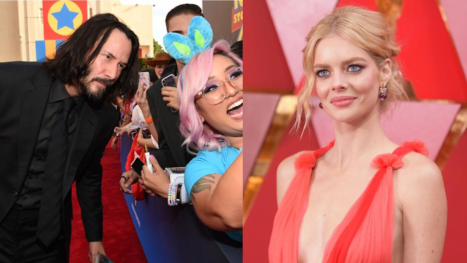 Keanu Reeves has no idea of his enormous popularity, according to 'Bill and Ted' co-star Samara Weaving. (Photo by Chris Pizzello/Richard Shotwell/Invision/AP)