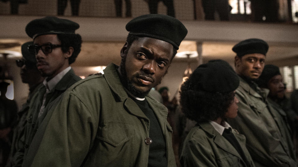 Daniel Kaluuya as Fred Hampton in 'Judas and the Black Messiah'. (Credit: Glen Wilson/Warner Bros)