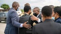 Haiti's first lady Martine Moise, the wife of assassinated President Jovenel Moise, arrives from the U.S., in Port-au-Prince