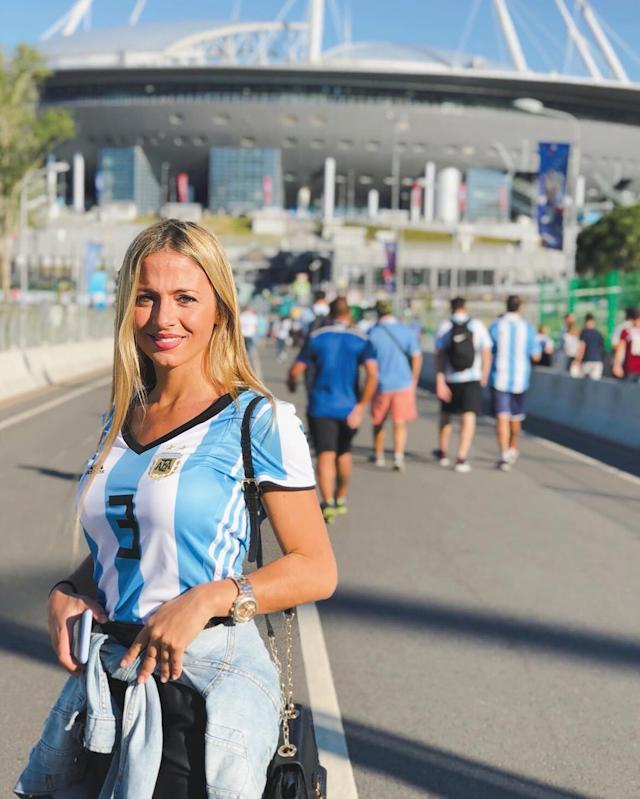 <p>Caro Calvagni, girlfriend of Argentina's Nicolas Tagliafico </p>