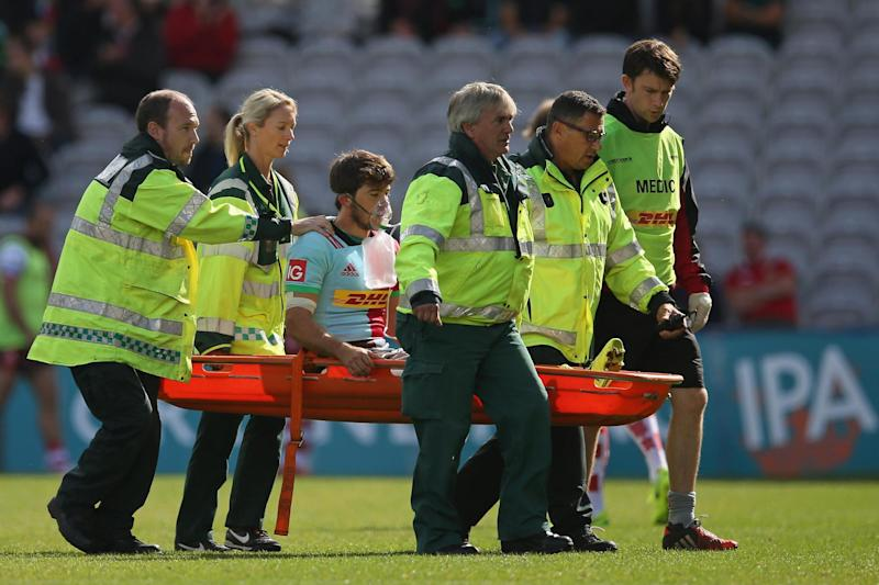 Sidelined: Demetri Catrakilis was injured on his first Quins start: Getty Images for Harlequins