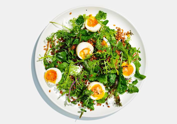 """<a href=""""https://www.bonappetit.com/recipe/whole-grain-salad-with-jammy-eggs-and-shallot-yogurt?mbid=synd_yahoo_rss"""" rel=""""nofollow noopener"""" target=""""_blank"""" data-ylk=""""slk:See recipe."""" class=""""link rapid-noclick-resp"""">See recipe.</a>"""