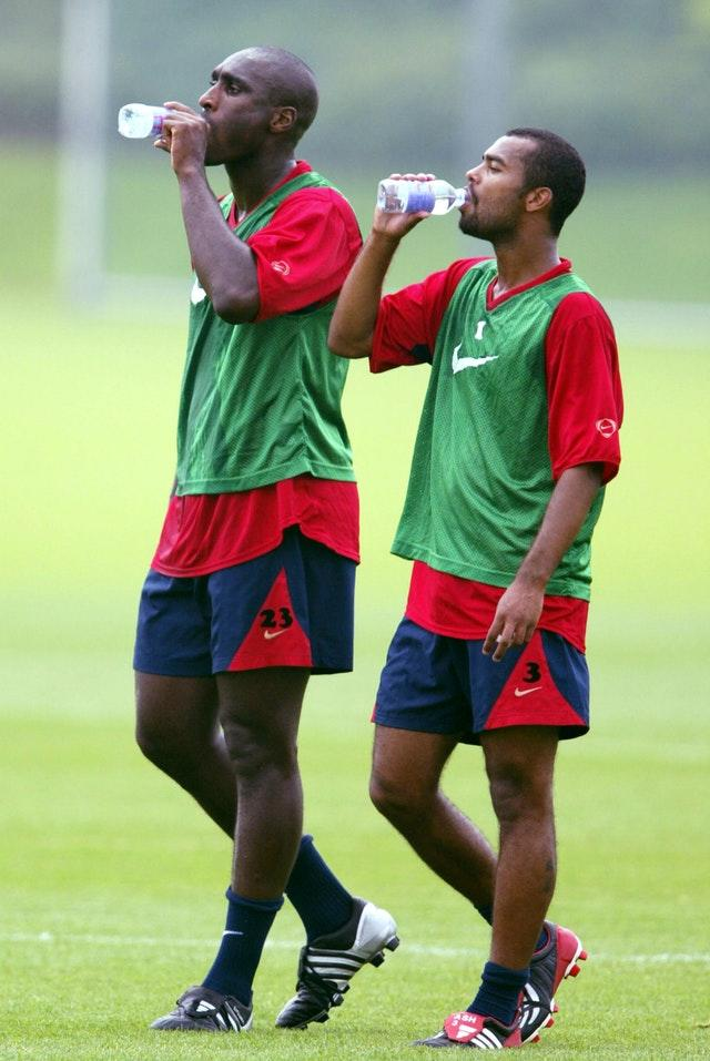 Sterling cited Sol Campbell (left) and Ashley Cole (right) as those who had missed out on opportunity.