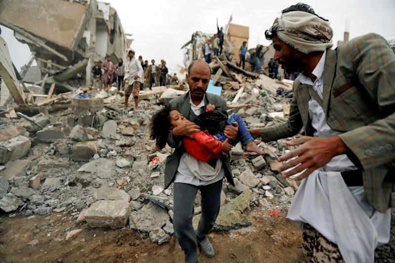 Air strikes by the U.S.-backed coalition are responsible for more than 5,000 civilian casualties in Yemen, according to the United Nations. (Khaled Abdullah / Reuters)