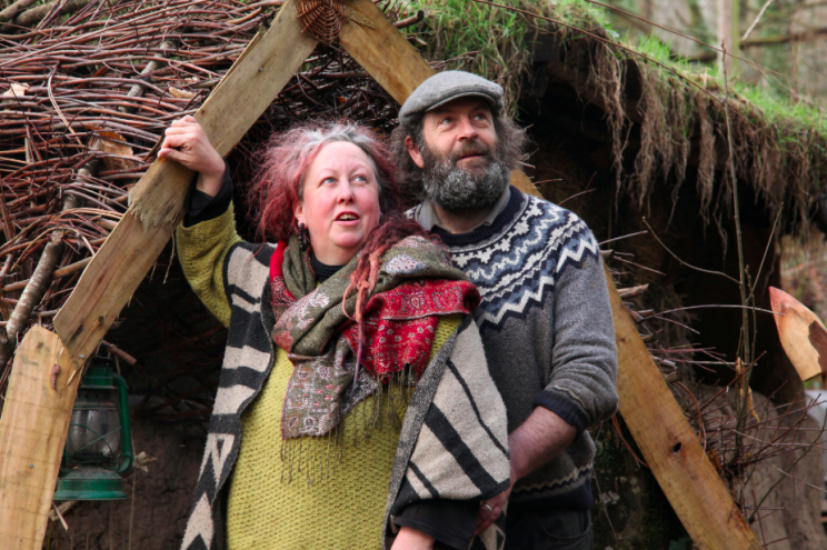 Kate and partner Alan have lived in the mud hut for 19 months (SWNS)