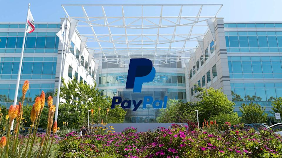 San Jose, California, USA - April 26, 2018: Exterior view of Paypal headquarters in Silicon Valley.