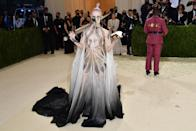 Grimes arrives for the 2021 Met Gala at the Metropolitan Museum of Art in New York (AFP via Getty Images)