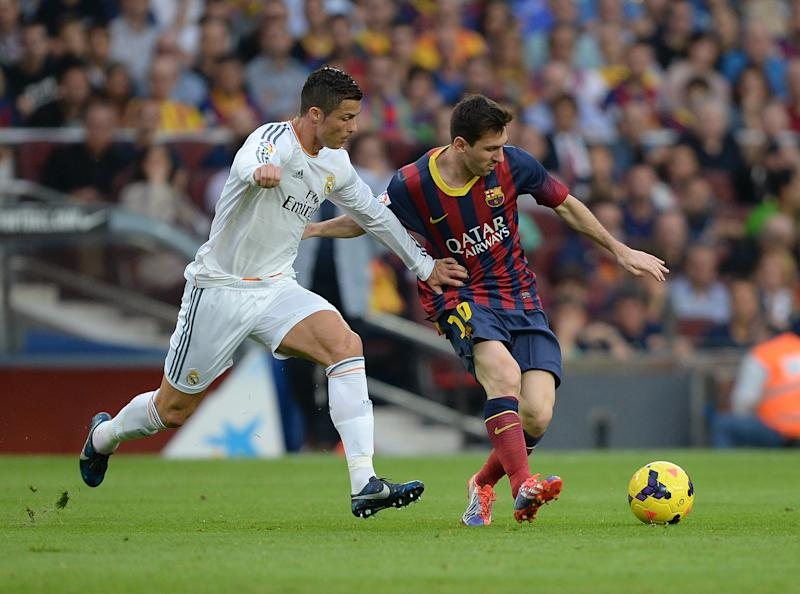 Cristiano Ronaldo and Lionel Messi. (Photo by Pressefoto Ulmer\ullstein bild via Getty Images)