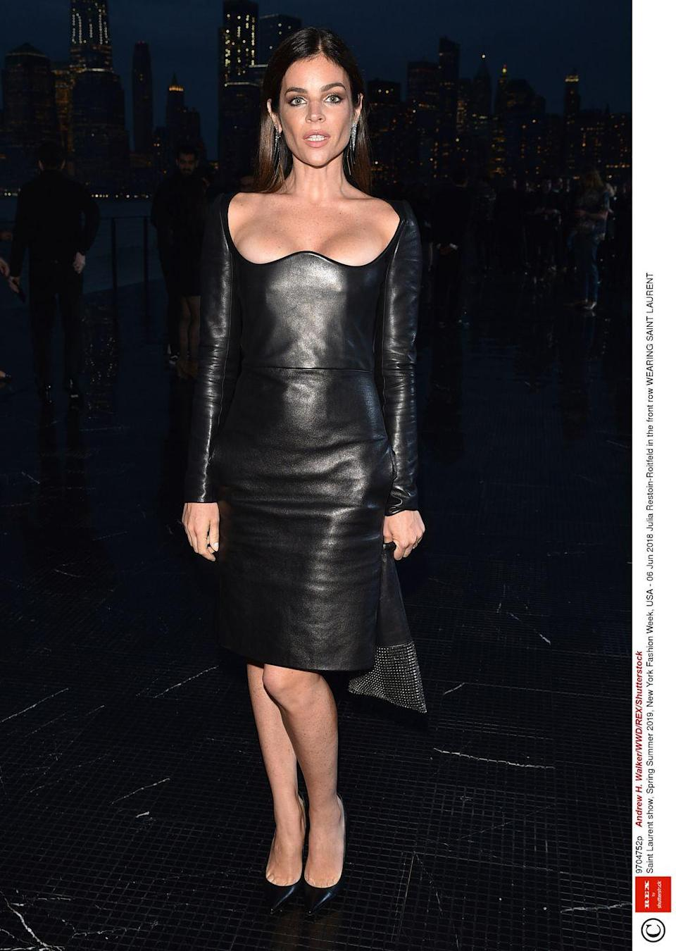 <p>The art director wore Saint Laurent to their resort show in New York.</p>