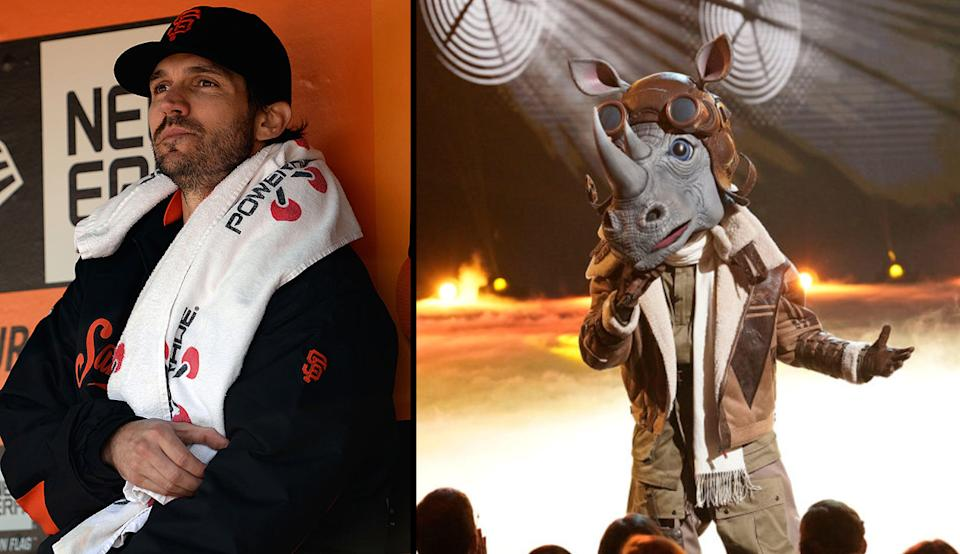 """Barry Zito was revealed as The Rhino on """"The Masked Singer."""" (Getty Images)"""