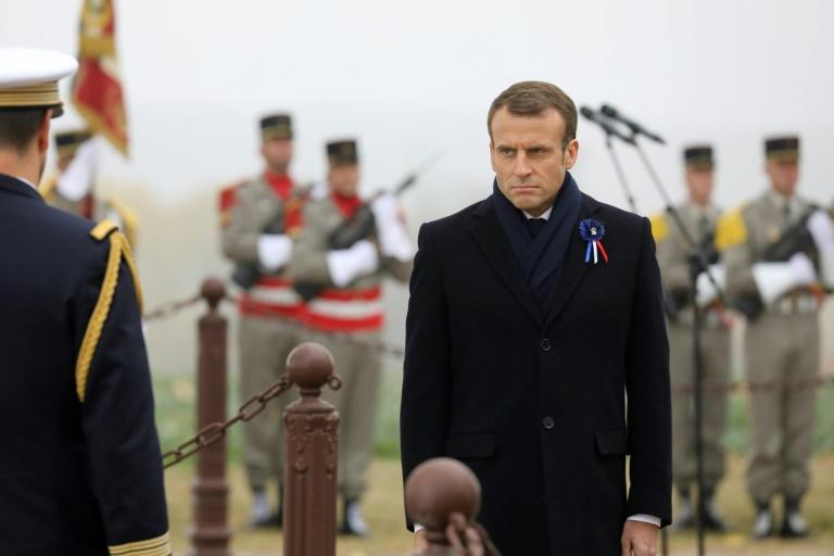 During weeklong World War I centenary commemorations in France, President Emmanuel Macron said Europe needed to reduce its dependence on American might