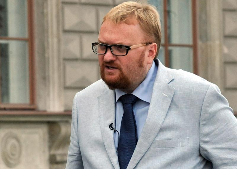 Vitaly Milonov, pictured in 2013, lashed out at the weekend at two local lawmakers leading a protest against handing over St. Isaac's basilica, a top landmark in Saint-Petersburg, to the Russian Orthodox Church