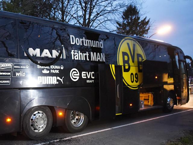 Dortmund's bus was attacked upon leaving their team hotel on Tuesday (Getty)