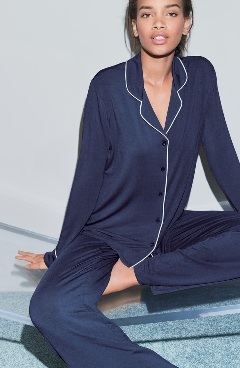 <p>I'm a big believer that your bed should be a sanctuary, and that starts with cozy pajamas. These <span>Nordstrom Lingerie Moonlight Pajamas</span> ($65) fit the bill perfectly.</p>