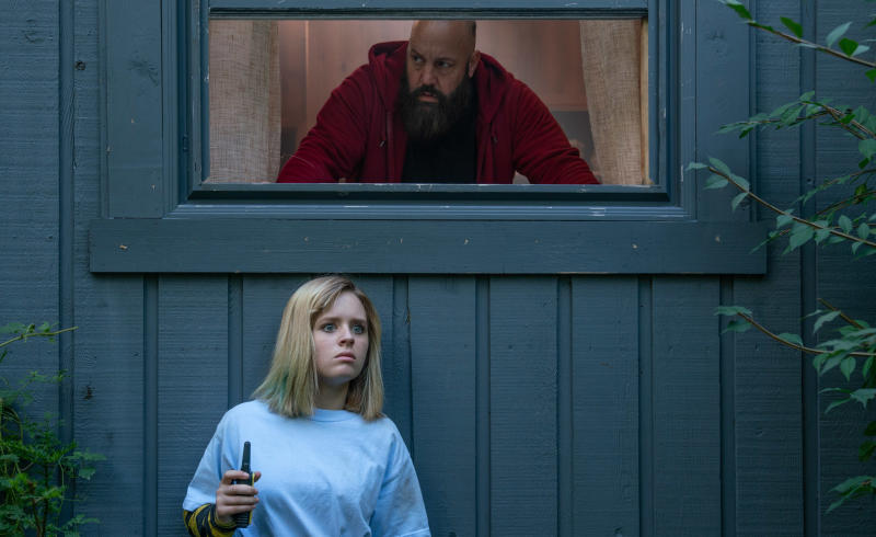 Kevin James hunts for Lulu Wilson in 'Becky'. (Credit: Vertigo Releasing)