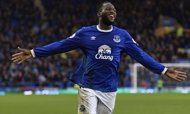 "<span class=""element-image__caption"">Romelu Lukaku celebrates scoring against Hull City. He is the Premier League's top scorer with 21 goals. </span> <span class=""element-image__credit"">Photograph: Tony McArdle/Everton FC via Getty Images</span>"